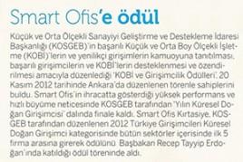 Smart Ofis Kırtasiye Frekans dergisi haberi